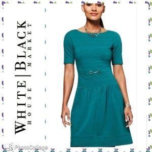White House Black Market teal dress